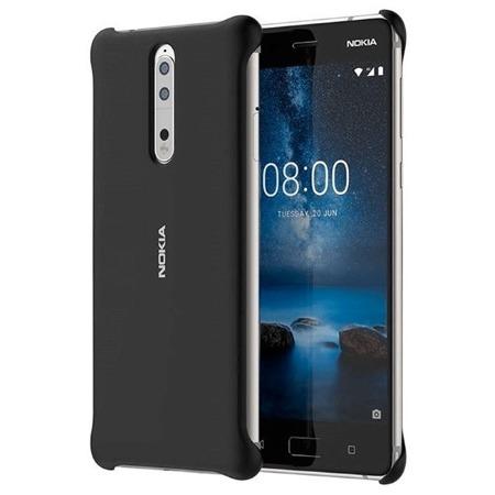 CC-801 Soft Touch Case Nokia 8, Czarna