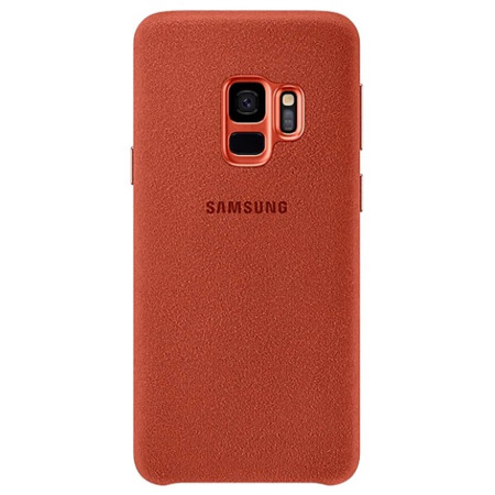 Etui Case Alcantara Cover do Samsung Galaxy S9 czerwone