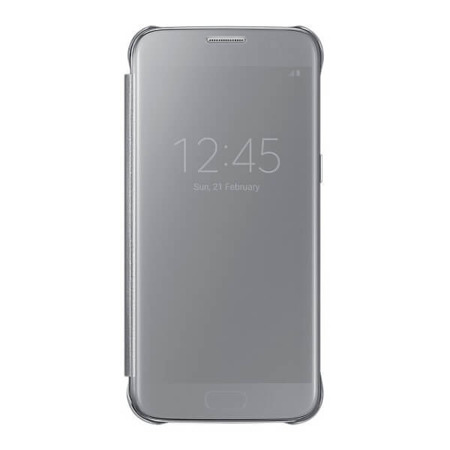 Etui Clear View Cover do Samsung Galaxy S7 srebrne