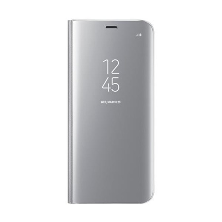 Etui Clear View Standing Cover do Galaxy S8 Silver