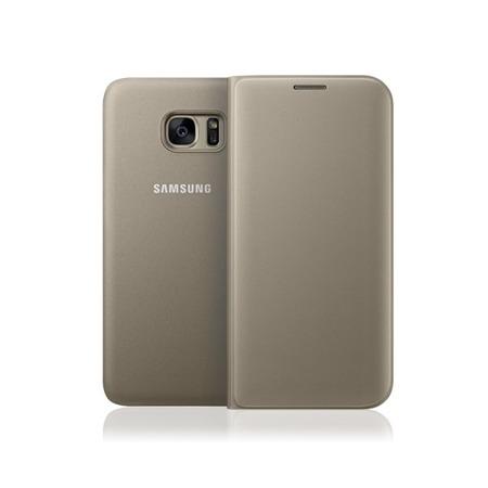 Etui Flip Wallet do Samsung Galaxy S7 edge Gold Złoty
