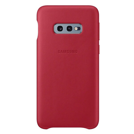 Etui do Samsung Galaxy S10e czerwone skórzane