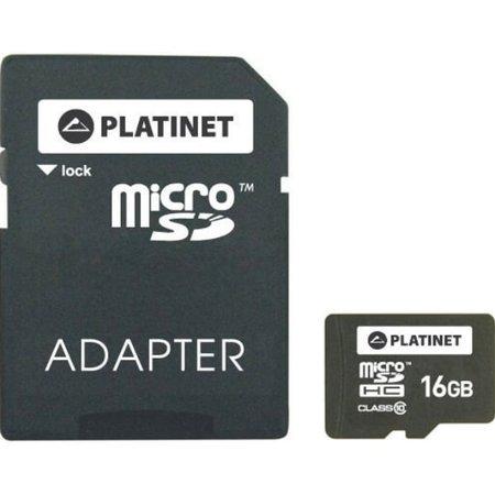 Karta microSD Platinet 16GB + adapter