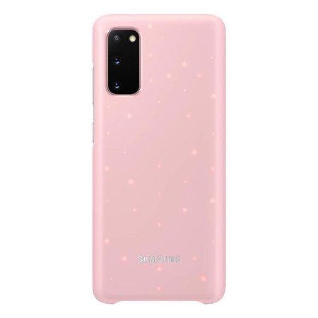LED Cover do Samsung Galaxy S20 różowe