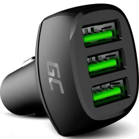 Ładowarka samochodowa Green Cell PowerRide 3x USB 18W