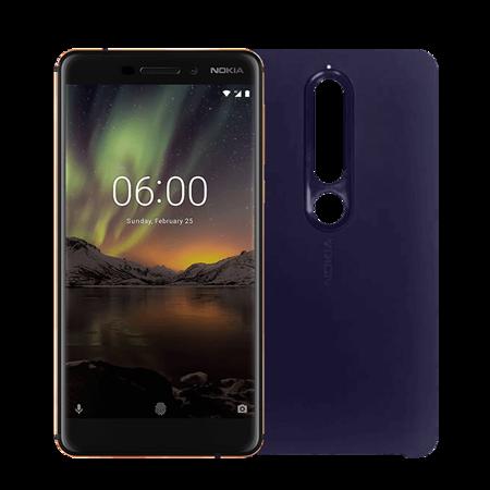 Nokia 6.1 4/64GB Dual SIM granatowo - złoty + Etui CC-505 niebieskie