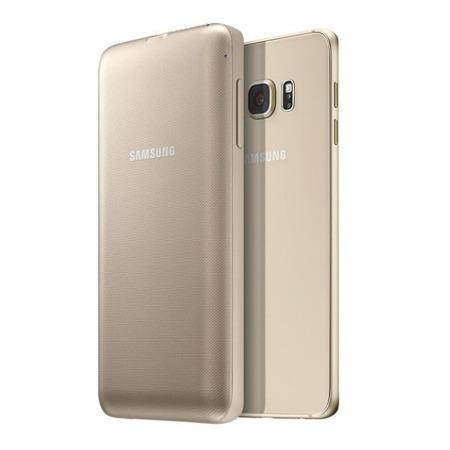 Osłona z baterią indukcyjną do Samsung Galaxy S6 Edge Plus, Złoty