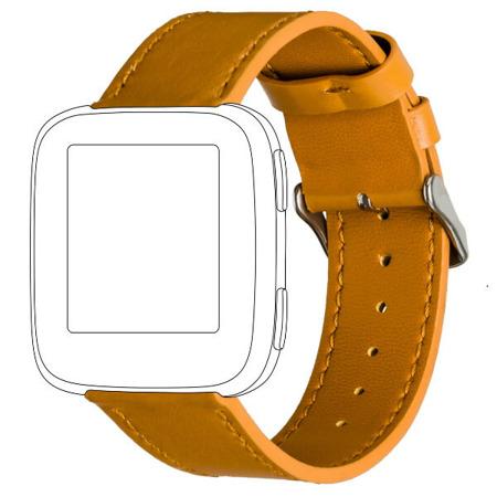 Pasek TOPP do Fitbit Versa skóra karmelowy
