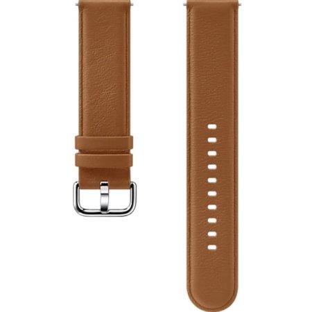 Pasek skórzany do Smartwatcha Samsung Galaxy Watch Active/Active 2 brązowy