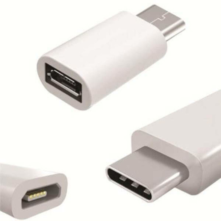 WG Adapter Micro USB to Type C biały