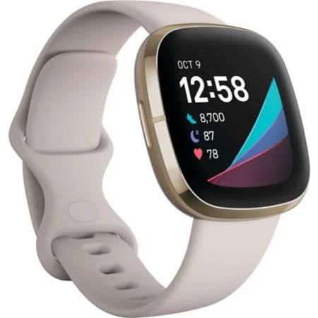 Zegarek - Smartwatch Fitbit Sense beżowo - złoty