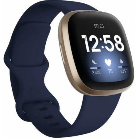 Zegarek - Smartwatch Fitbit Versa 3 niebiesko - złoty