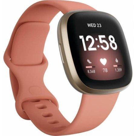 Zegarek - Smartwatch Fitbit Versa 3 różowo - złoty